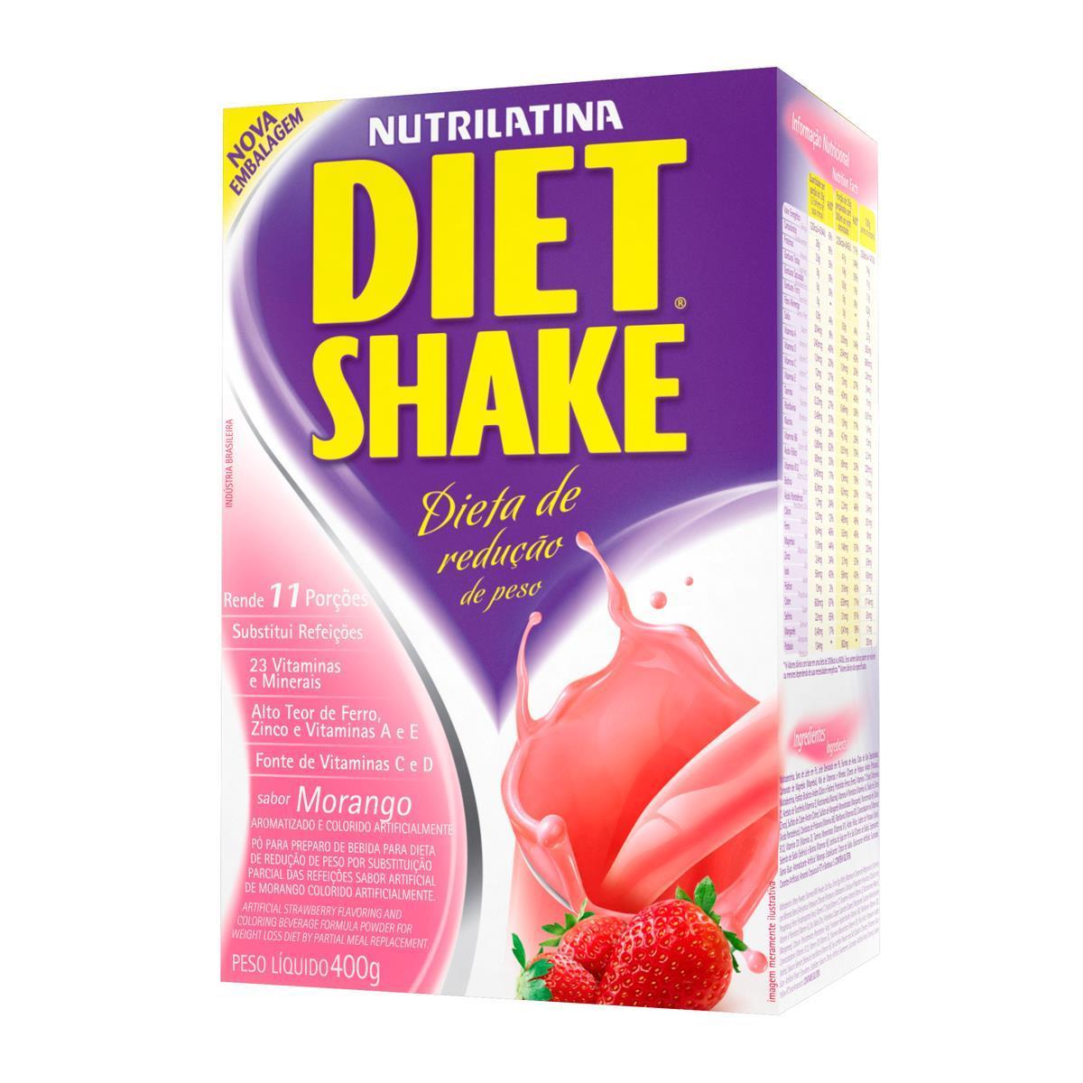 DIET SHAKE TRADICIONAL (400g) - Morango - AGE