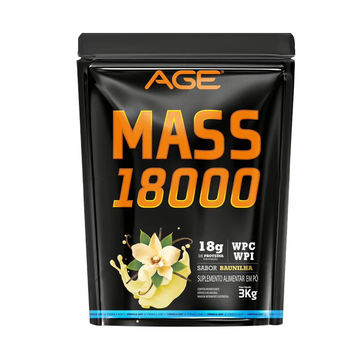 MASS 18000 (3Kg) - Baunilha - AGE