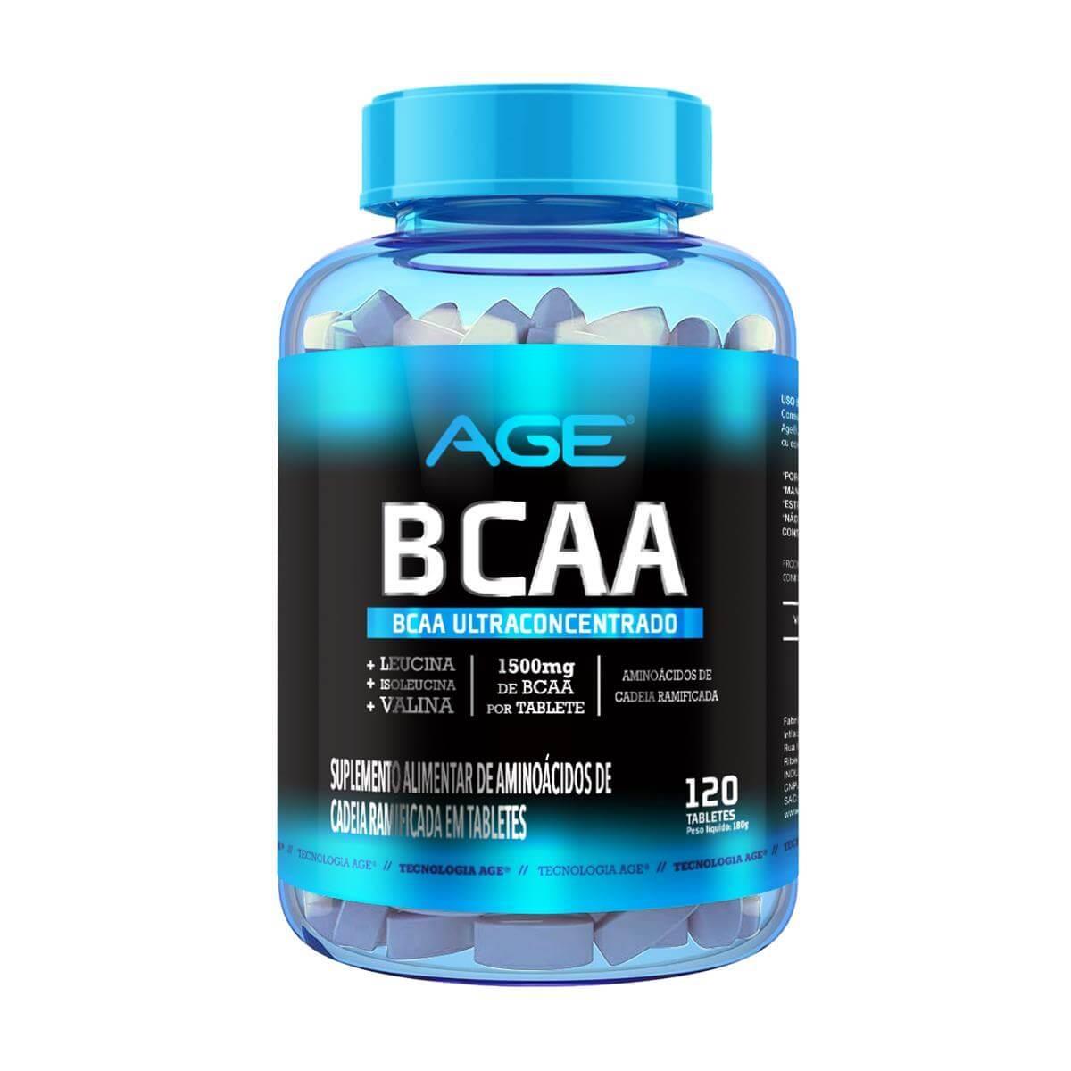 BCAA AGE (120 Tabletes - 1500MG) - AGE