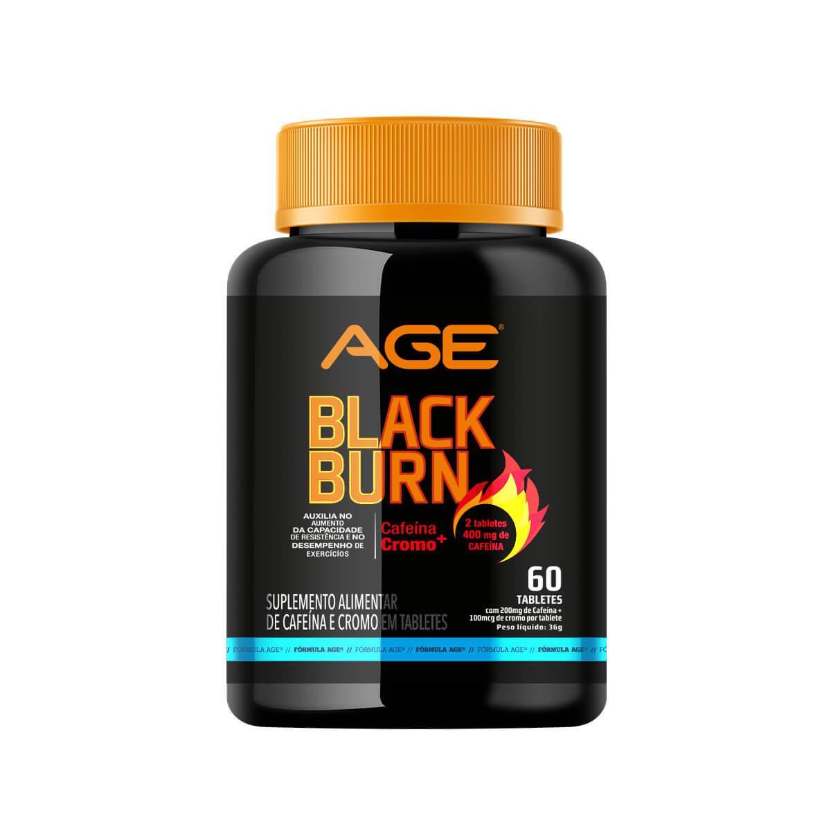 BLACK BURN INTENSE TERMOGÊNICO (60 Tabletes) - AGE