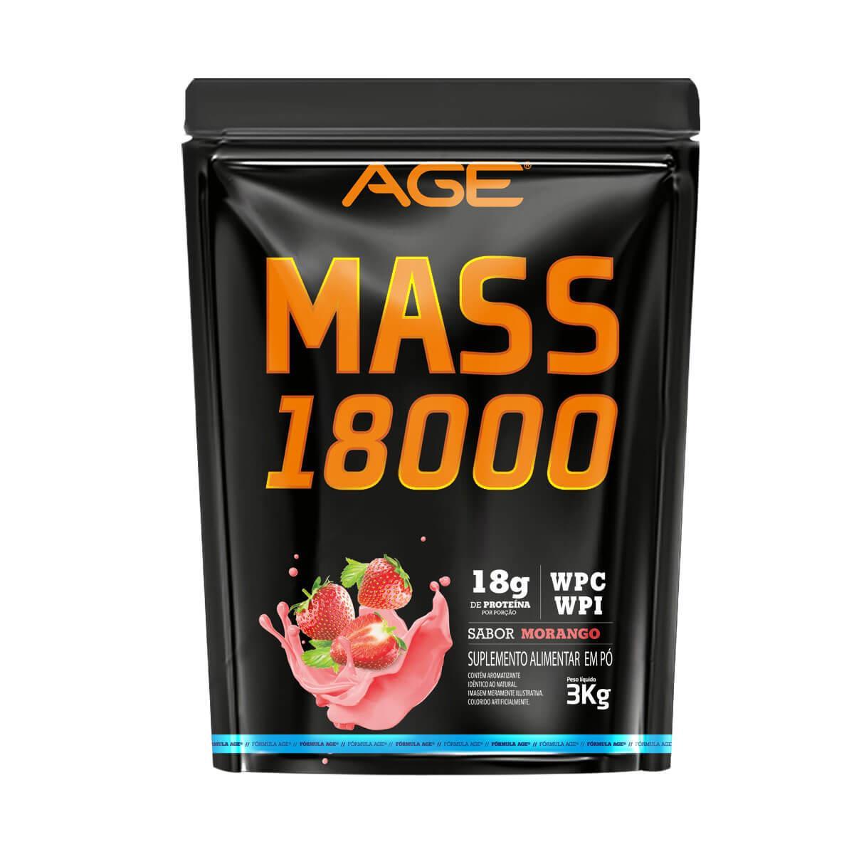 MASS 18000 (3Kg) - Morango - AGE