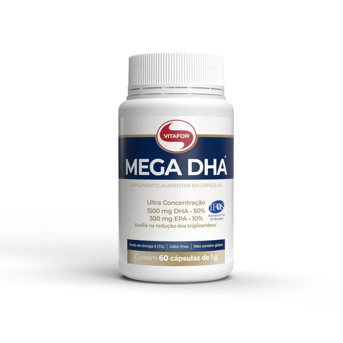 MEGA DHA (60 Cápsulas) - Vitafor