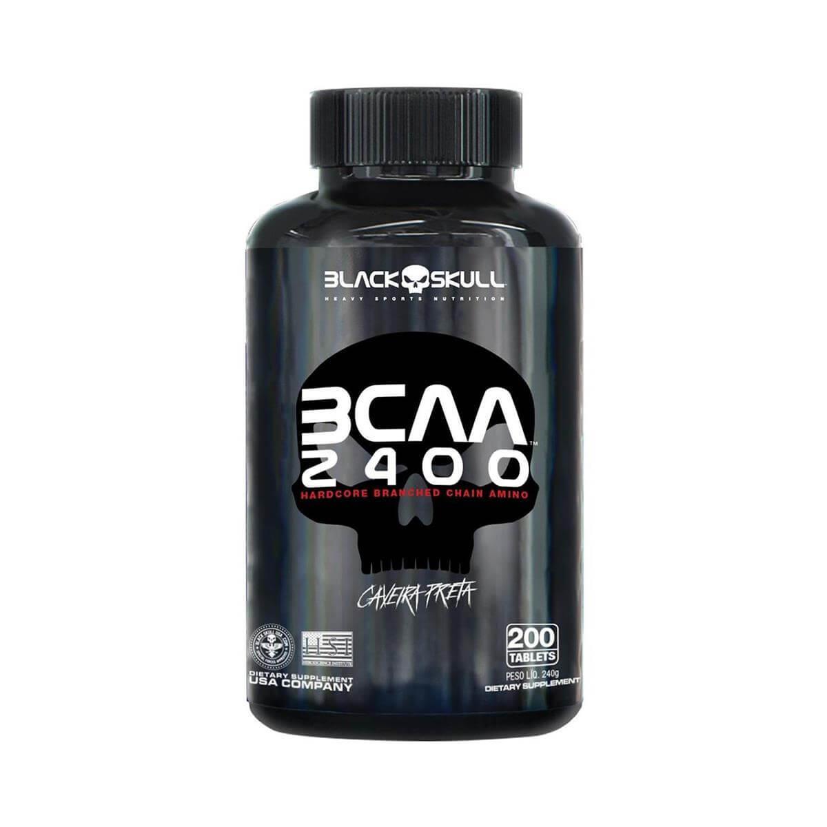 BCAA 2400 (200 Tabletes) - Black Skull