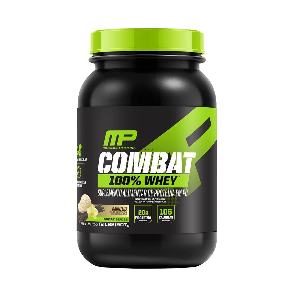 COMBAT 100% WHEY (907g) - Baunilha - Muscle Pharm