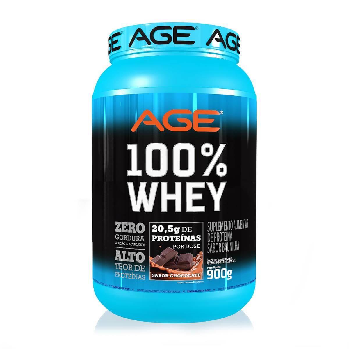 WHEY 100% PURE (900g) - Chocolate - AGE