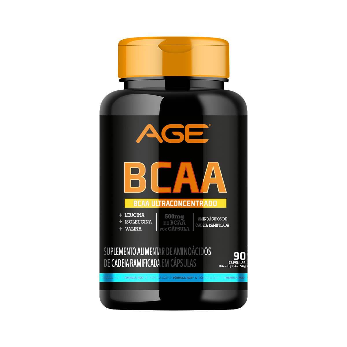 BCAA AGE (90 Cápsulas - 500MG) - AGE