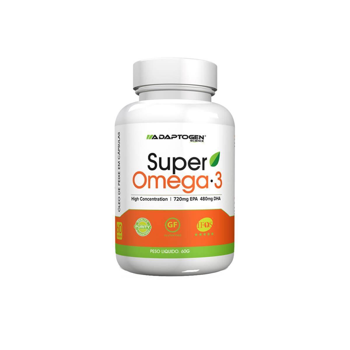 SUPER ÔMEGA 3 (60 Cápsulas) - Adaptogen Science
