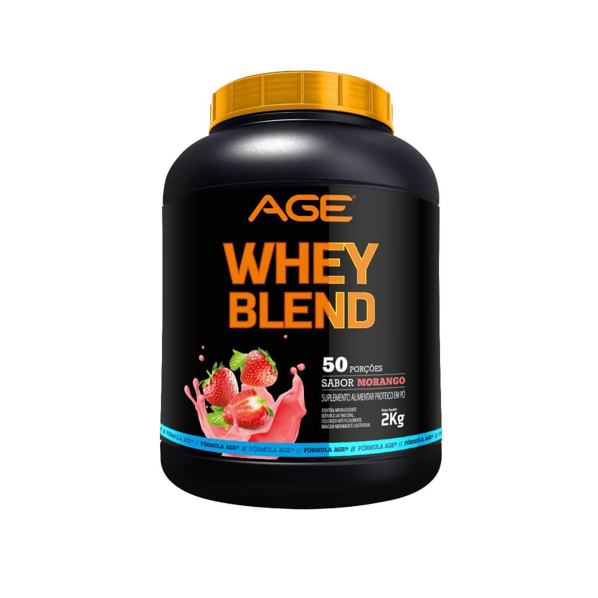 WHEY BLEND AGE (2Kg) - Morango - AGE