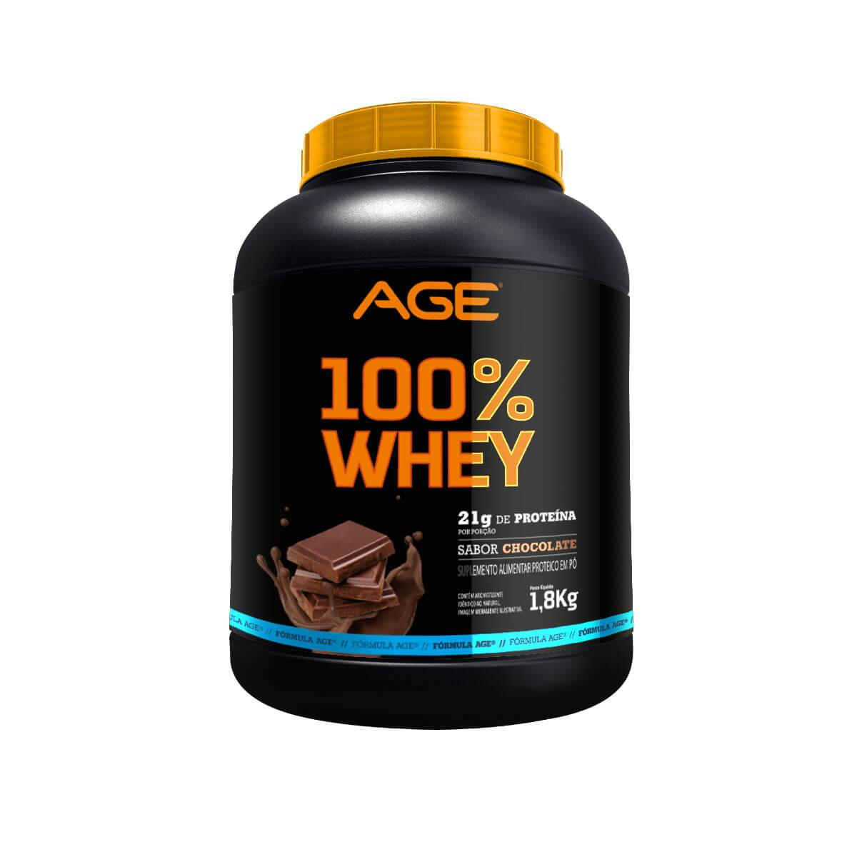 WHEY 100% PURE (1,8Kg) - Chocolate - AGE
