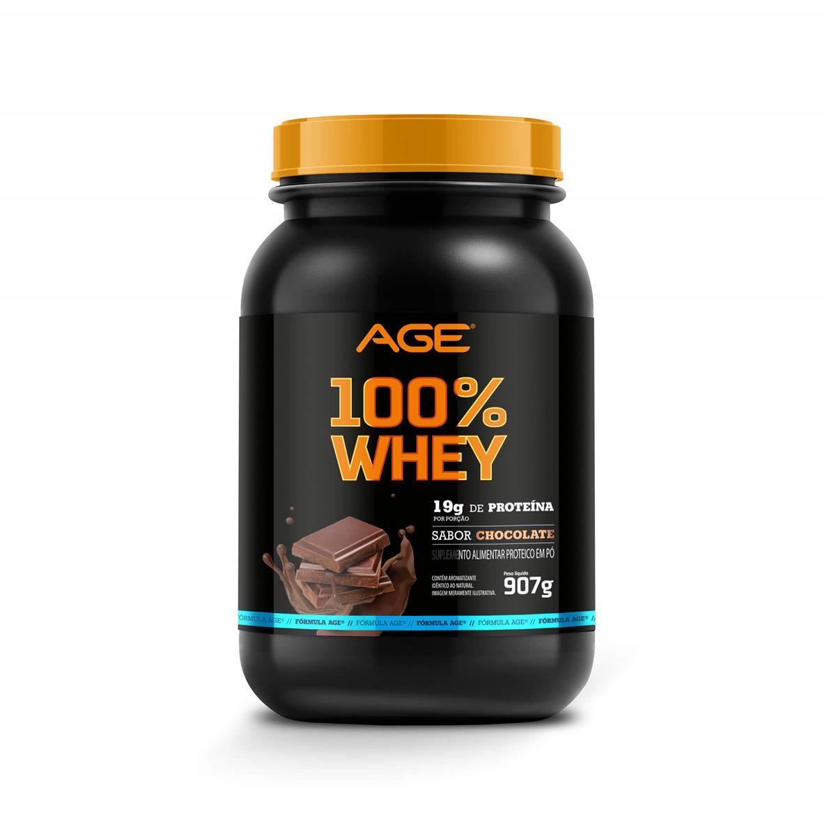 WHEY 100% PURE (907g) - Chocolate - AGE