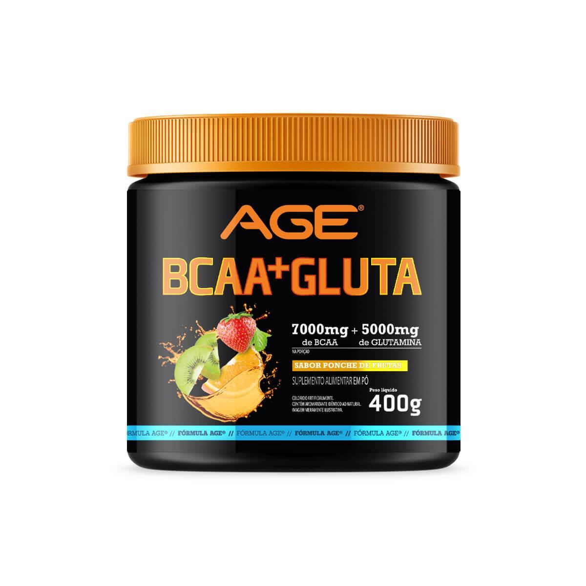 BCAA + GLUTAMINA (400g) - Ponche de Frutas - AGE
