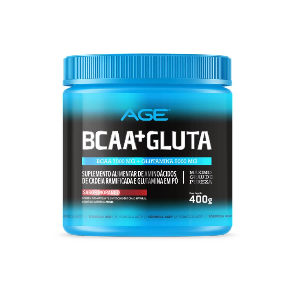 BCAA + GLUTAMINA (400g) - Morango - AGE