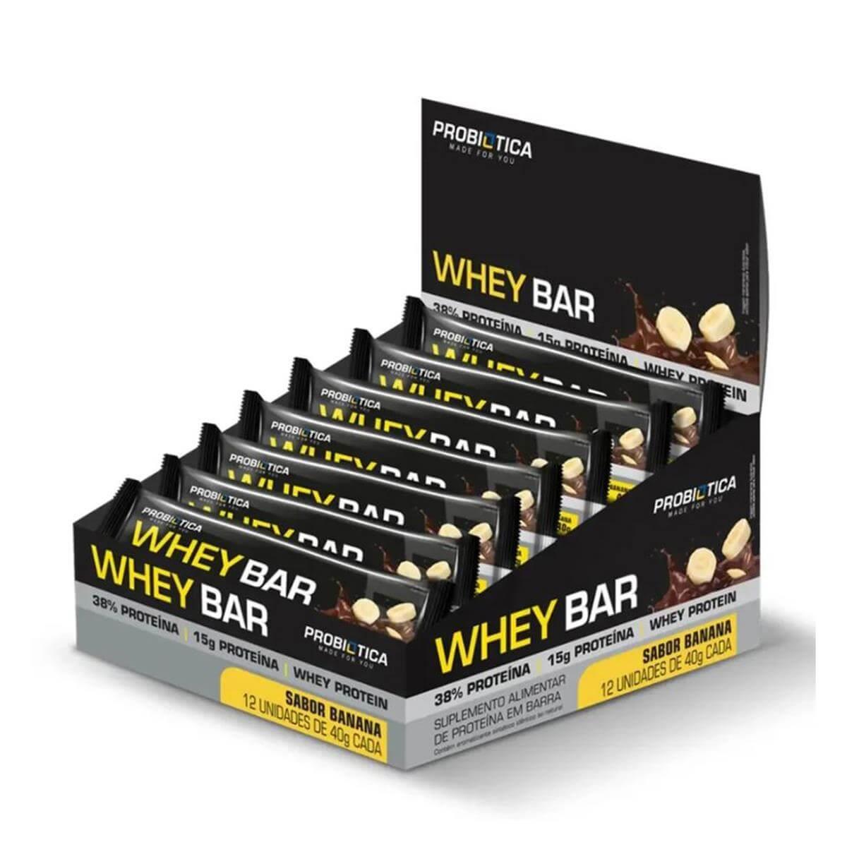WHEY BAR (480g) - Banana - Probiótica