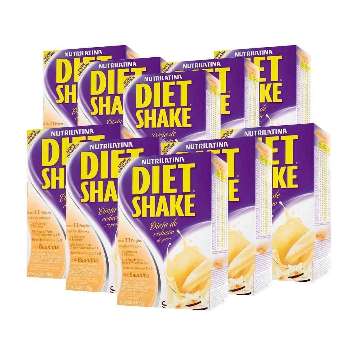 10x Diet Shake (400g) - Baunilha - AGE