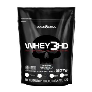 REFIL WHEY 3 HD (837g) - Chocolate - Black Skull db4f36af9c3ff